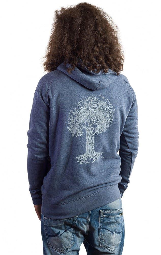Life Tree Fairwear Organic Sweater Vereinigung Men Denimblau aus Biobaumwolle Größe S