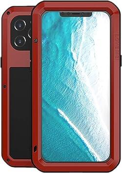 LOVE MEI Funda para iPhone 12 Pro MAX, Heavy Duty al Aire Libre de Armadura Metal Estuche Protectora Carcasa Antigolpes Impermeable a Prueba de Polvo ...