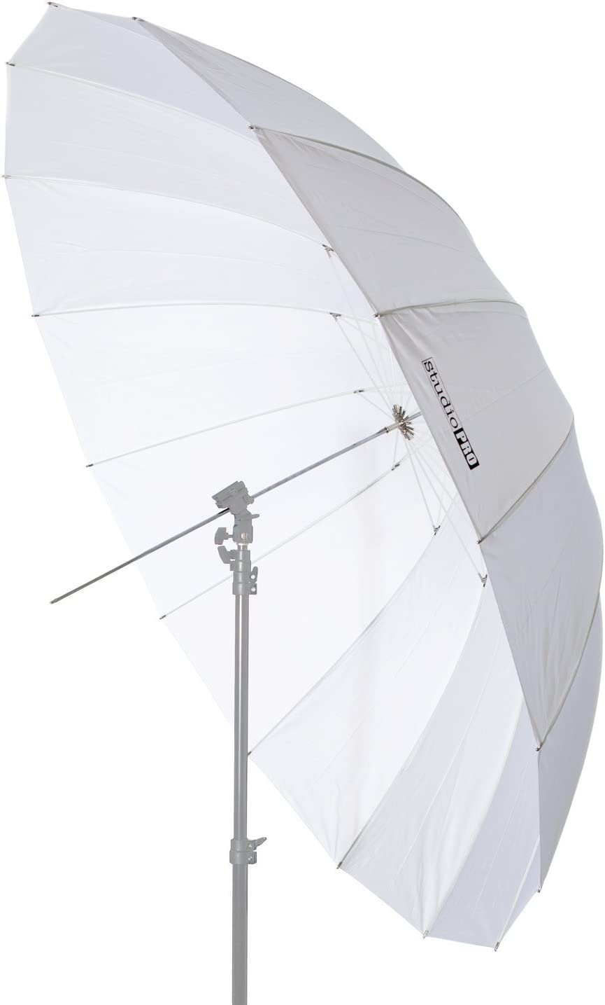 Fovitec StudioPRO Photo Studio Professional White Translucent Parabolic Umbrella with Diffuser - 6 feet