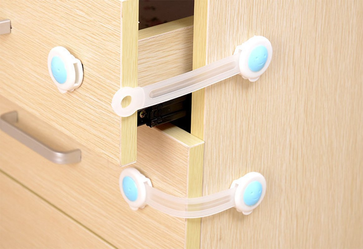 Xiaoyu 20PCS Multifunction Baby Safety Locks, Child Proof Cabinets/Drawers/Appliances/Toilet Seat & Fridge, Keep Your Baby Out of Trouble with Our Cabinet Safety Locks