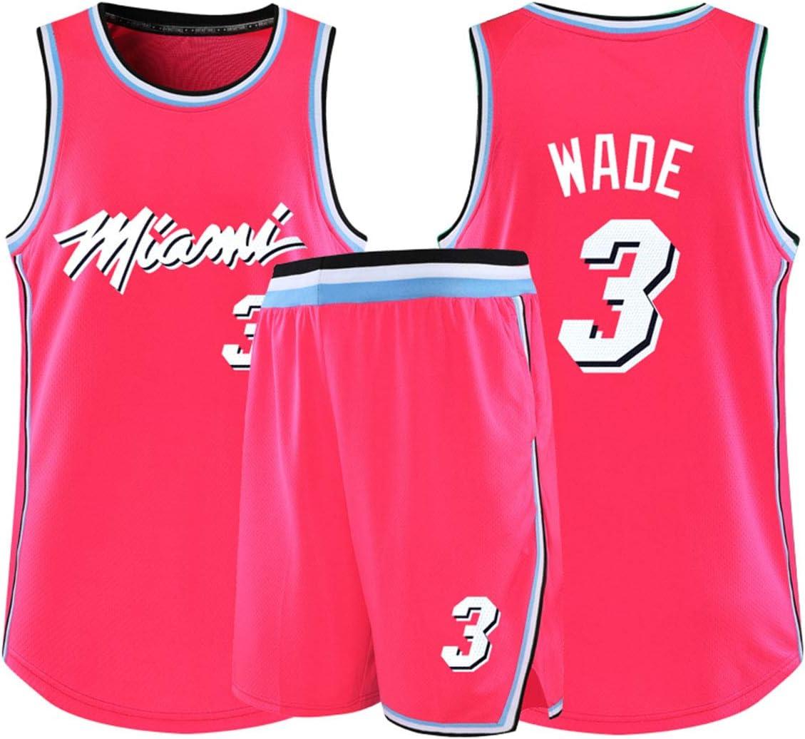 Basketball Jersey-Miami Heat Wade # 3 Weste,A,XS Butler # 23 Bosh # 1 Swingman Jersey Hemd Basketball-Trikot Top /& Short