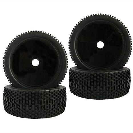 Baoblaze 4pcs 1/8 Buggy On-road Tire Tyre RC Ruedas para Redcat HSP