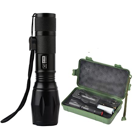 Torch Lamp Light 5000lms Zoom able CREE T6 LED Flashlight Focus UK STOCK