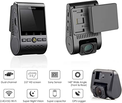 Viofo Autokamera Dash Cam A129duo Duale Hd 1080p Kamera Gps Full Hd Dash Kamera Dash Cam Wi Fi Sensor Imx291 Auto Dvr A129duo Mit Gps Küche Haushalt