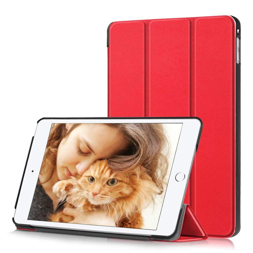上品な Eouine 5用ケース iPad B07Q27FL3P Mini Mini 5用ケース スリム 軽量 プレミアム PUレザー スマート 三つ折り スタンドカバー 自動ウェイク/スリープ機能付き iPad Mini 5 タブレット用 K3z-pmini5-hong レッド B07Q27FL3P, ハンモック専門店 遊び(すさび):343977d1 --- a0267596.xsph.ru