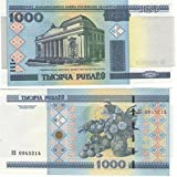 Collectible World Banknotes - Bank of Belarus 1000 Rubles Banknote Crisp / 2000 / Belarus / UNC