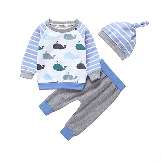 33a2312d7 Amazon.com  Infant Baby Toddler Boys Girls Spring Clothes Long ...
