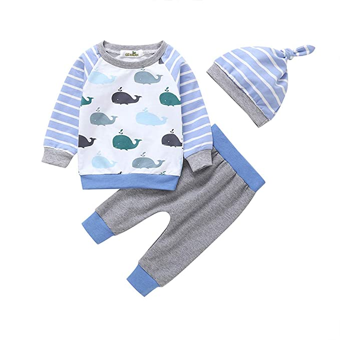 Amazon.com: Infant Baby Toddler Boys Girls Spring Clothes Long ...