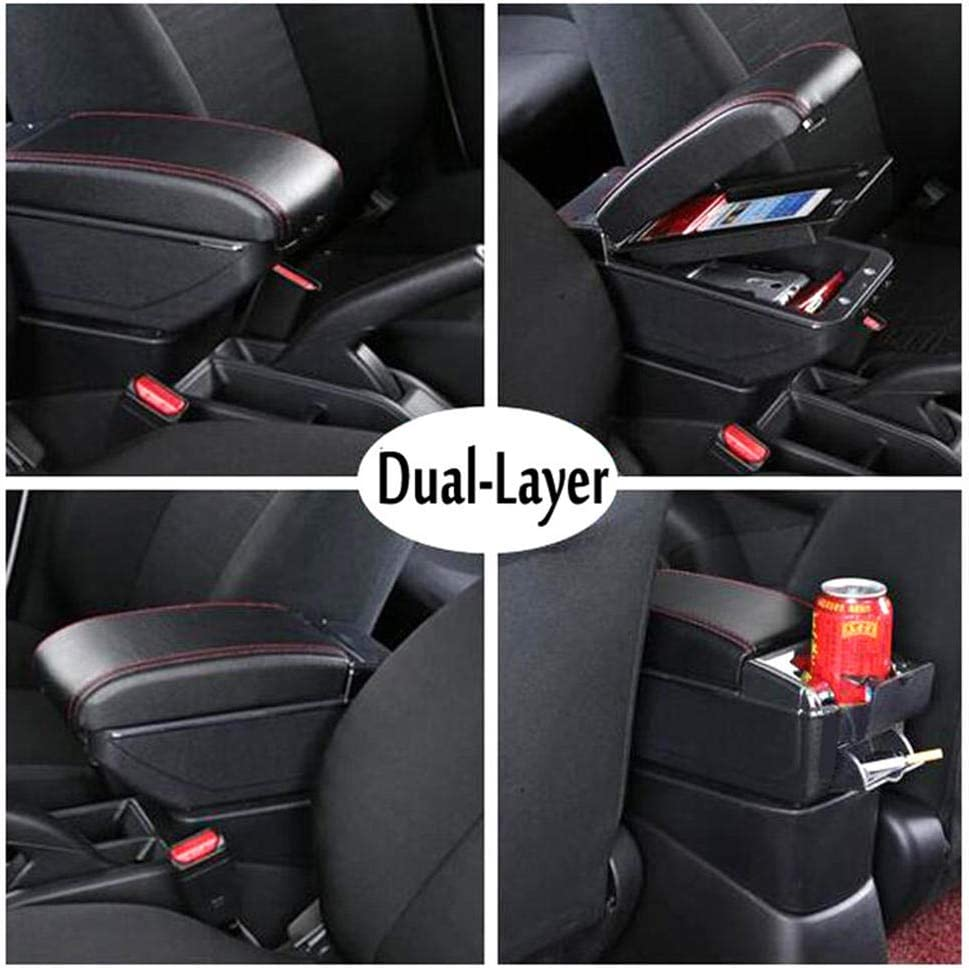JASAFAJFH para Chevrolet Spark reposabrazos Central Store Content Storage Box boxarmrest Box con Interfaz USB