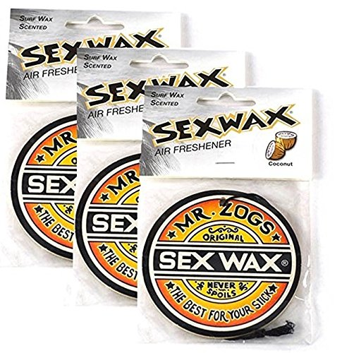 Sex Wax Air Freshener (3-Pack, Coconut) (Best Automotive Air Freshener)