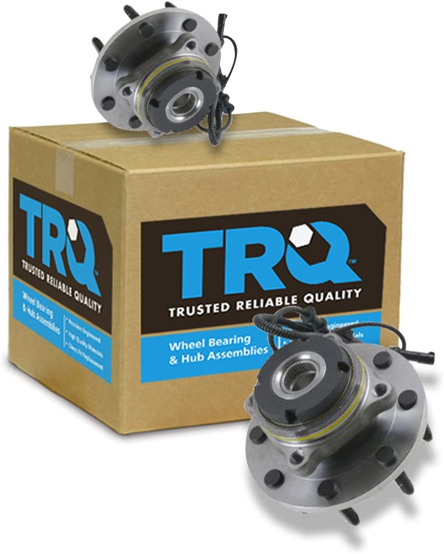 TRQ Front Wheel Hub /& Bearing Pair for Super Duty Pickup Truck 4x4 4WD w//ABS