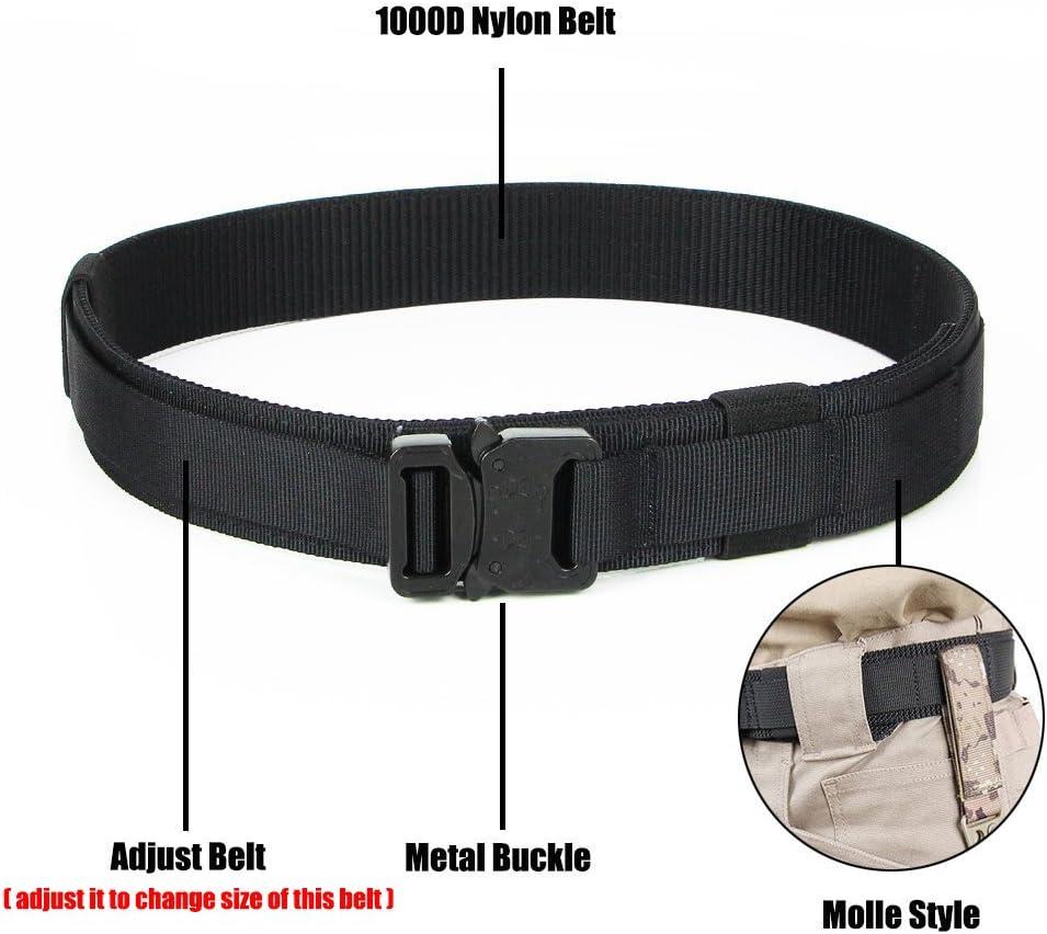 Adjustabel Tactical Belt Molle Utility Pouch Magazine Padding Waistband Nylon
