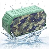Barsone Portable Wireless Bluetooth Speaker, Built-in Mic, Dual-Driver IPX6 Waterproof/Shockproof/Dustproof Speaker with Superior Sound for Camping, Hiking, Biking, Partying, Home, Beach - Camouflage