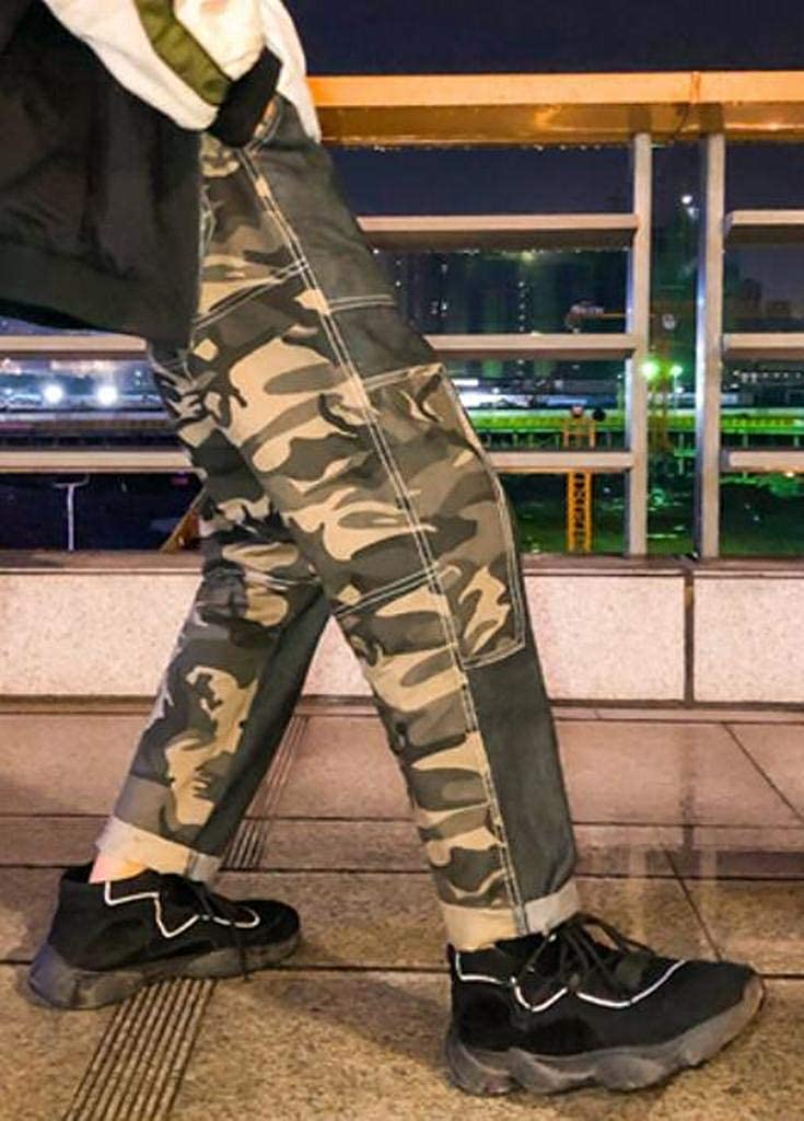 OTW Mens Elastic Waist Vogue Camo Print Active Cotton Drawstring Lounge Pants Trousers