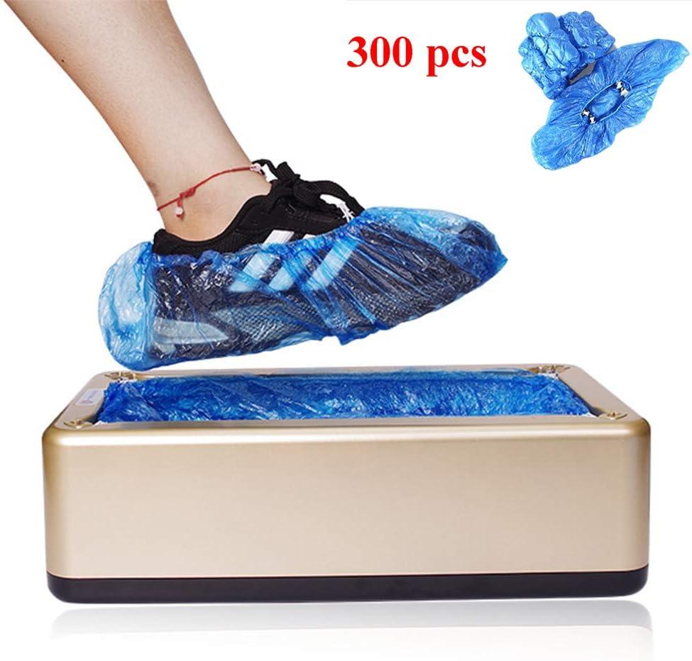 XYSQWZ Patucos Desechables,cubrezapatos Desechables, Dispensador De Zapato con 300 Portón del Maletero De Plástico Desechables, Adecuado para Los Negocios Caseros Médicos Y Oficinas