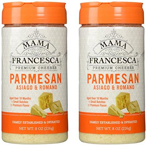Mama Francesca Parmesan Asiago & Romano Premium Grated Authentic Italian Cheese (2 Pack) Gluten Free