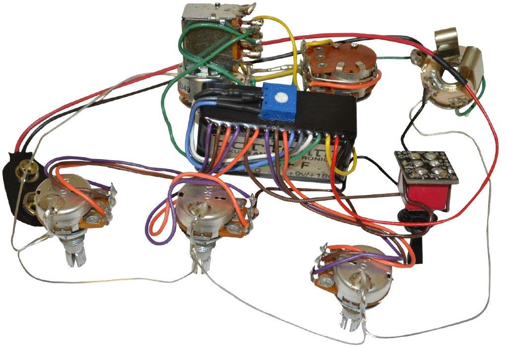 amazon com bartolini hr 5 4ap 918 preamp harness 3 band eq w 5 rh amazon com