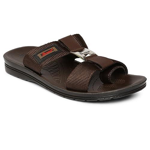 8d193b9f0838 PARAGON Vertex Men s Brown Flip-Flops  Buy Online at Low Prices in India -  Amazon.in