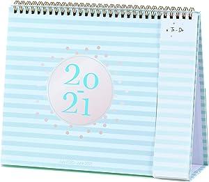 2020-2021 Desk Calendar - Standing Flip Calendar 2020-2021 with Premium White Paper, 10.5