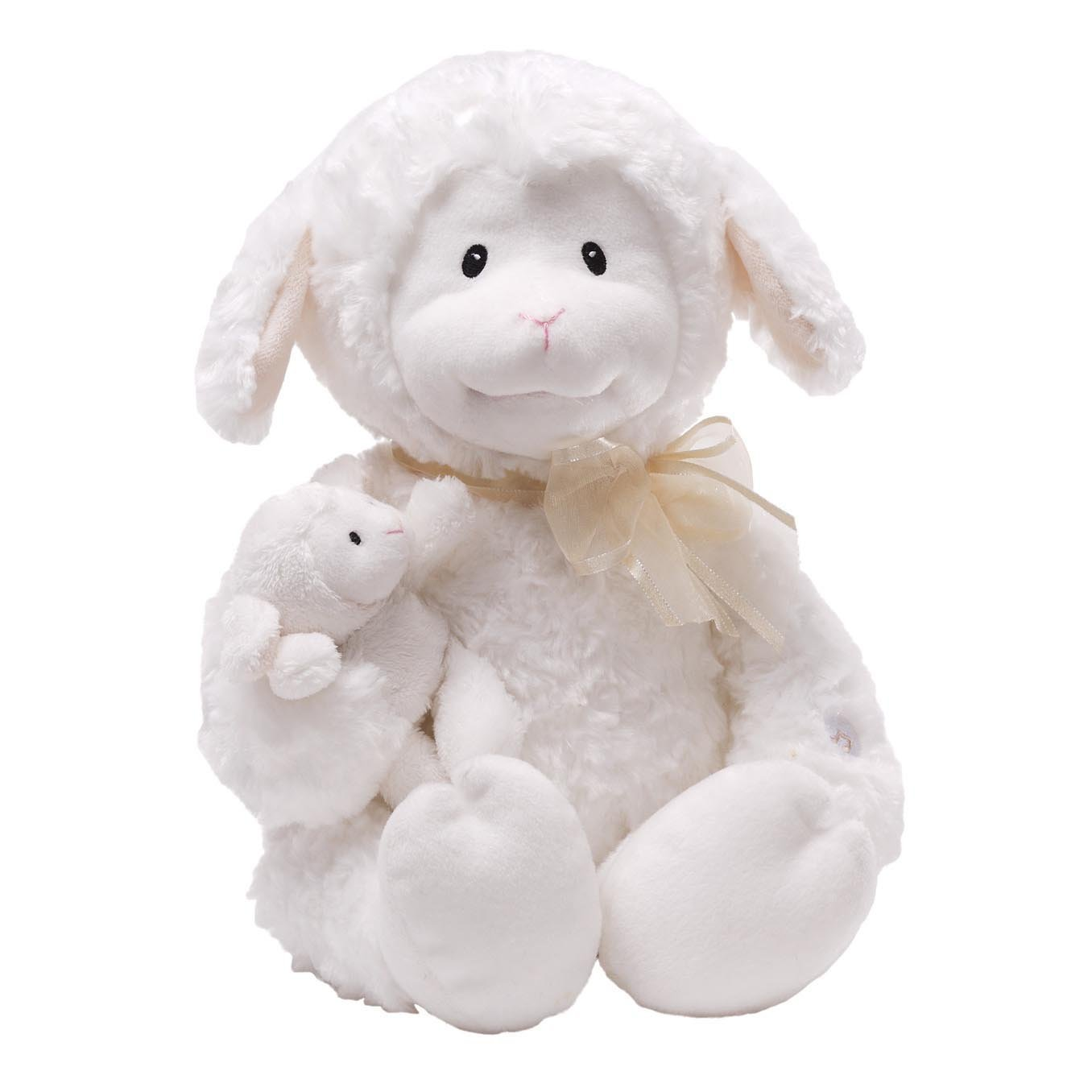 GUND Nursery Rhyme Time Lamb Animated Stuffed Animal Plush, White, 10'' by GUND