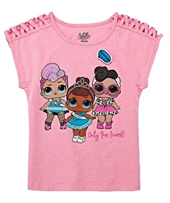 aa4a072be Amazon.com: L.O.L. Surprise! Girls Short Sleeve Graphic T-Shirt ...