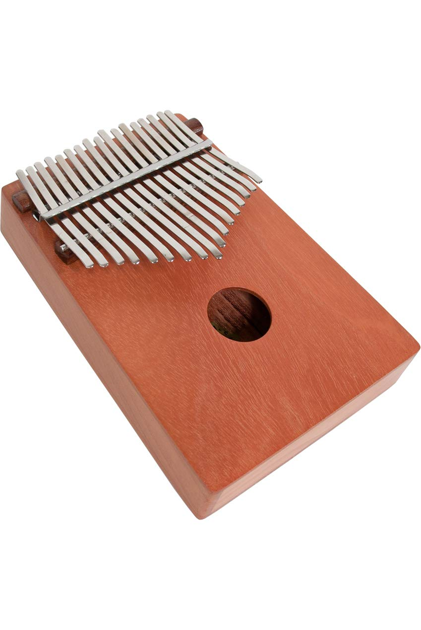 Package Includes: 6'' Dobani Hand Cymbals + Ceremonial Systrum Shaker, Red Cedar + Hand Tambourine, Pair + 17 Key Kalimba Thumb Piano, Red Cedar by Mid-East (Image #5)
