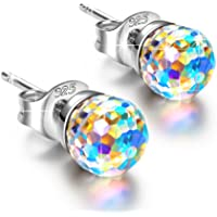 Alex Perry Fantastic World Women Pierced Stud Earrings 925 Sterling Silver, Crystals from Swarovski, Multi Color Choice, Valentines Gifts, Allergy-Free, Passed SGS Inspection