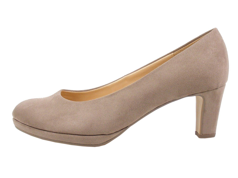 Gabor 91-260 Schuhe Damen F Microvelour Plateau Pumps Weiße F Damen Beige 8ff028