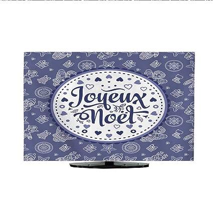 Joyeux Noel Audio.Amazon Com Fabric Tv Dust Cover French Merry Christmas