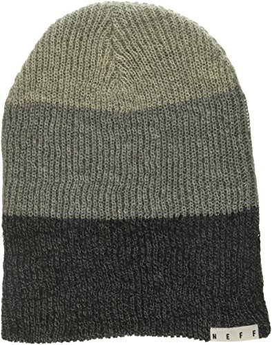 NEFF Unisex-Adult's Trio Beanie, Grey Charcoal Black Heather, One Size (Neff Beanie Young Men)