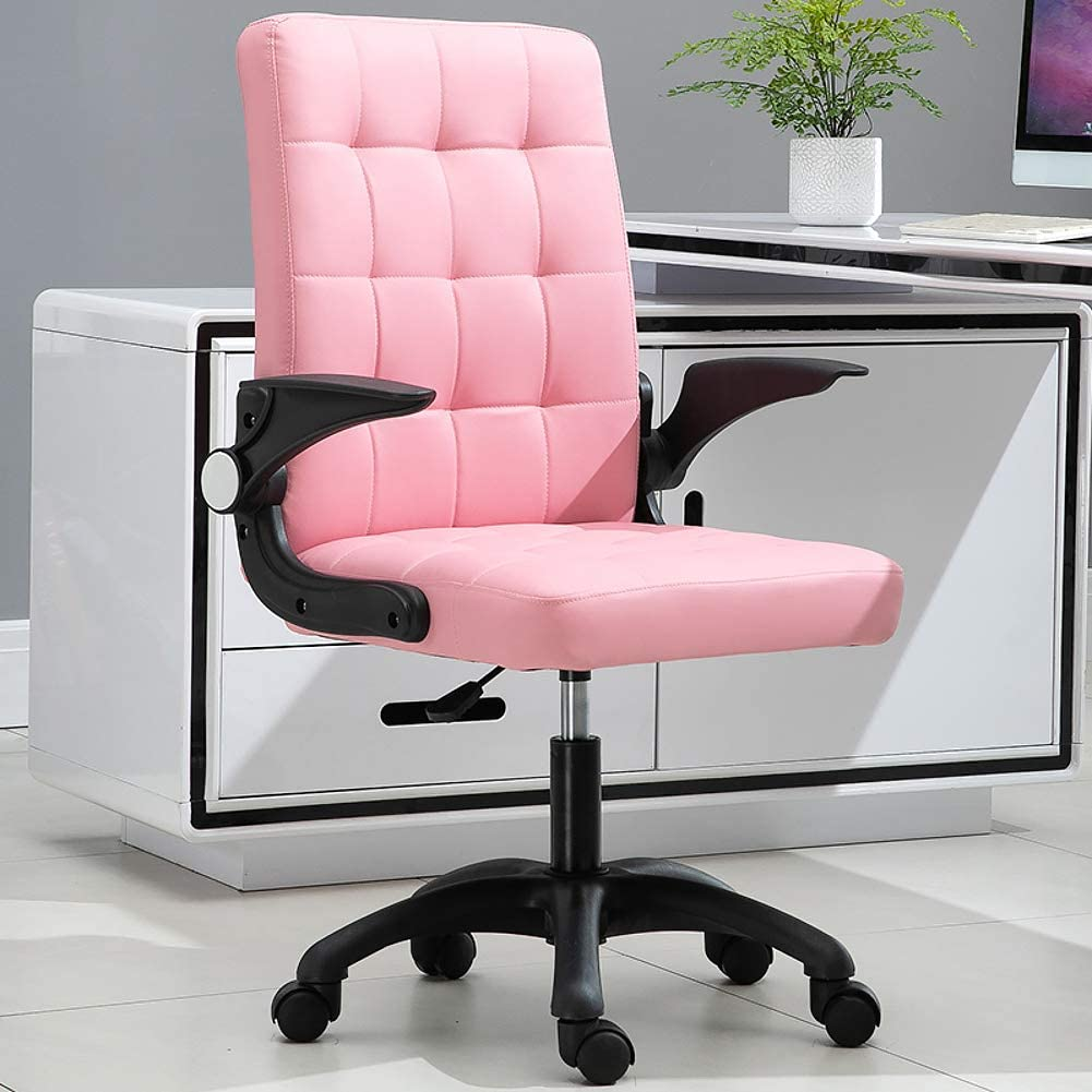 XM&LZ Comfortable Light Pink Office Chairs (Tufted)