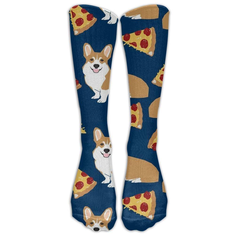 55783a19b19d Amazon.com: NEW Corgi Pizza Navy Blue Cute Funny Corgis Dog Pet Athletic  Tube Stockings Women's Men's Classics Knee High Socks Sport Long Sock One  Size: ...