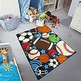 ZXDG-Kids Sports Ball Carpet, Baseball, Basketball, Rugby Elemental Carpet Kids Room (Sports ball, 80X120cm(2.6X3.9ft))