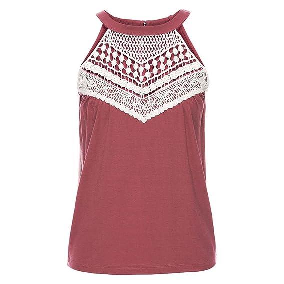 Kootk Sin Mangas Tops Mujer Camiseta Verano Chaleco Sexy Camisa Blusa Boho Casual Tanque Tops S - XXL: Amazon.es: Ropa y accesorios