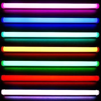 Wundervoll LED RGB Röhre 90cm 5050 SMD mit 10 Tasten Funk Fernbedienung 20  YL36