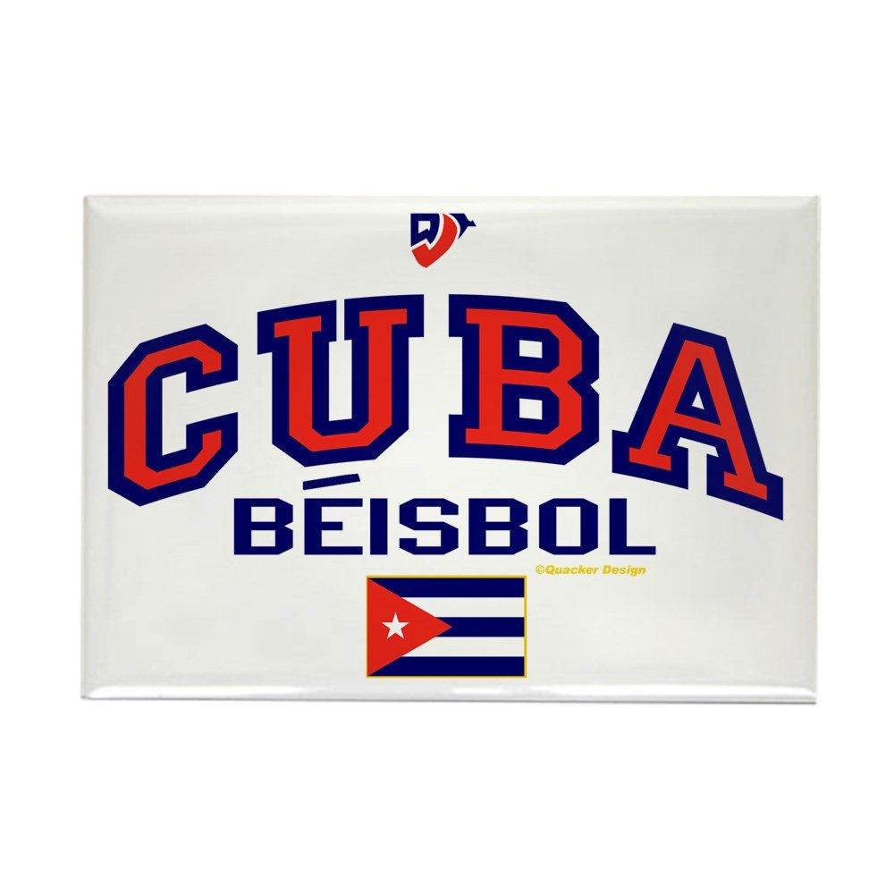 CafePress – CU Cuba béisbol Beisbol – rectangular imán, 2
