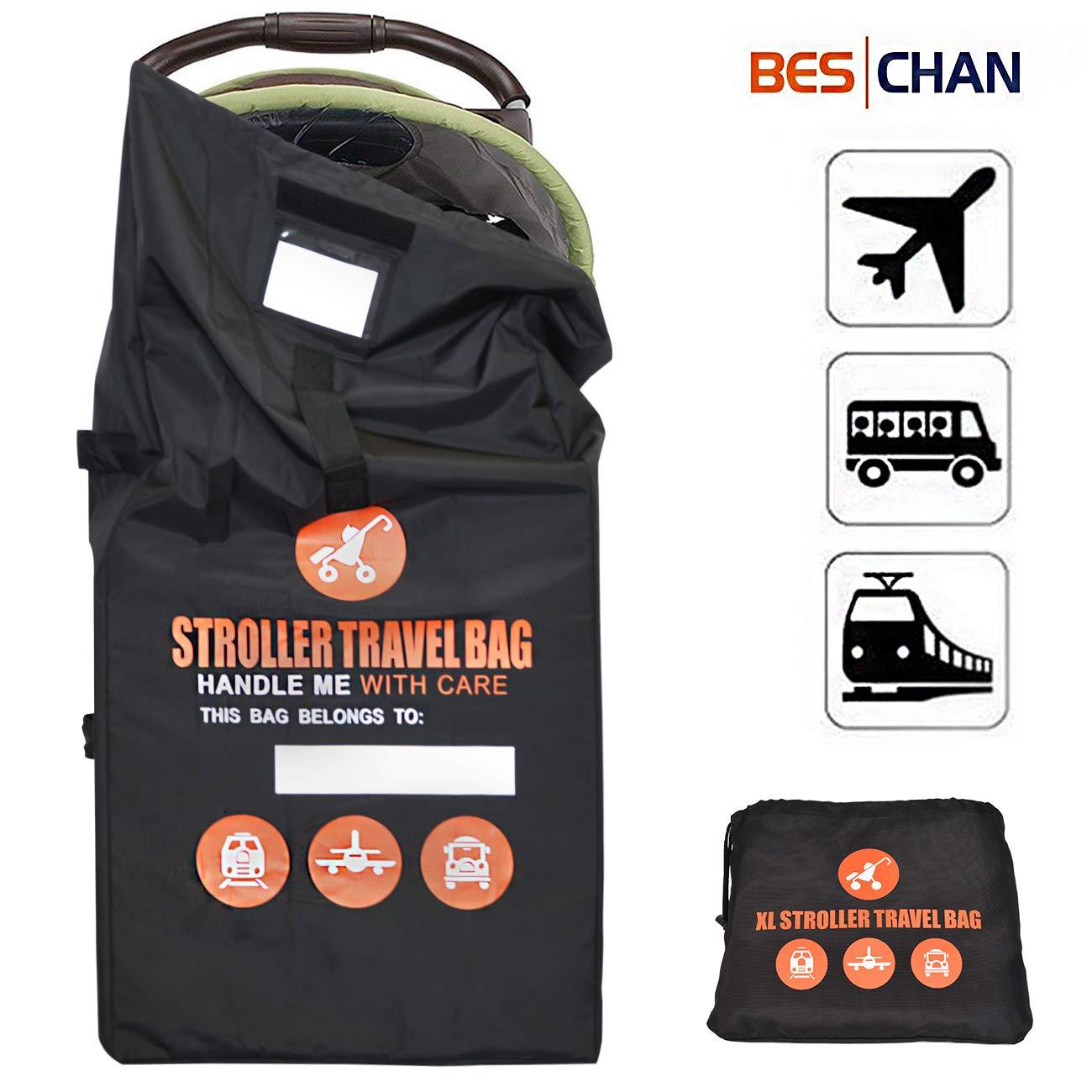 Beschan Standard 84 * 45 * 45 CM Kinderautositz Reisetasche Kinderwagen Transporttaschen Tragetasche Faltbar mit Schulterriemen für Flughafen, Bahnhof, Autofahrten