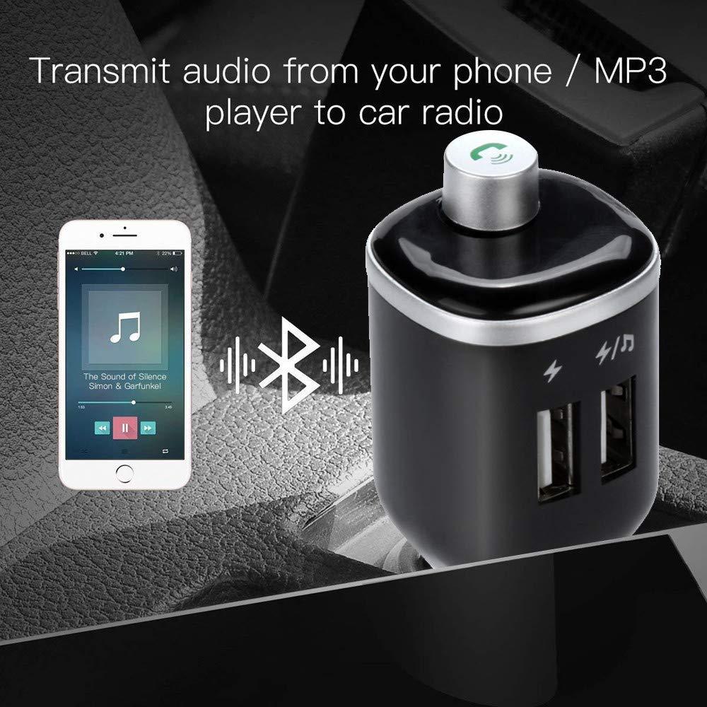 A Transmetteur FM,Rameng sans Fil Bluetooth Kit de Voiture Chargeur de Voiture avec 2 Ports USB 5V//2.5A