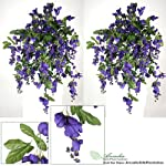 TWO-3-Artificial-Wisteria-Hanging-Flower-Bushes-with-No-Pot