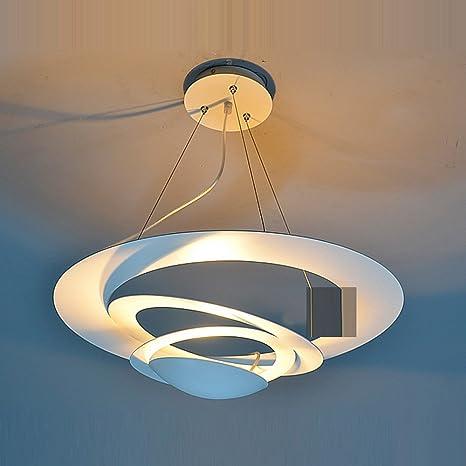 UFO - pintados de blanco hierro lámparas de techo Comedor colgante ...