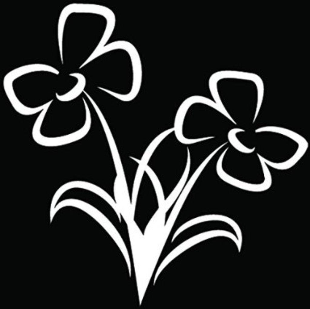 Fresh Garden Flowers Car Window Decal Vinyl Sticker|Cars Trucks Walls Laptop CCI349 5 In Tall White