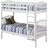 Amazon Com Orbelle Twin Over Twin Bunk Bed White Baby