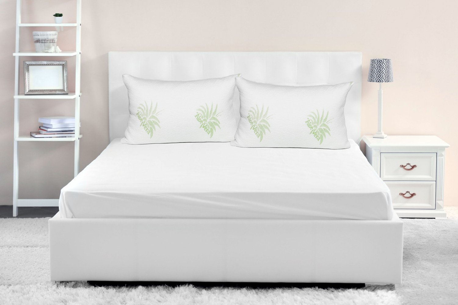 Dormire 2 Pack of Hypoallergenic Shredded Memory Foam Pillow with Removable Bamboo Soft Pillow Case Queen Size /並/行/輸/入/品