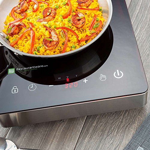 Home Pro Portable Induction Cooktop RWT0095 – 1800W (120V) Countertop Induction Cooker with Digital Temperature Display - Perfect for Home and RV Use -  Restaurantware by Restaurantware (Image #2)