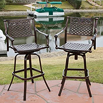 outdoor swivel bar stools sale uk sierra cast aluminum set with arms