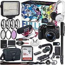 Canon EOS Rebel T6i DSLR Camera Premium Video Creator Kit with Canon 18-55mm Lens + Sony Monitor Series Headphones + Video LED Light + 32gb Memory + Monopod + High End Accessory Bundle