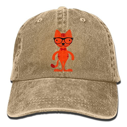 Hainingshihongyu Glasses Cat Baseball Caps Adult Sport Cowboy Trucker Hats Adjustable - Tx Victoria Glass