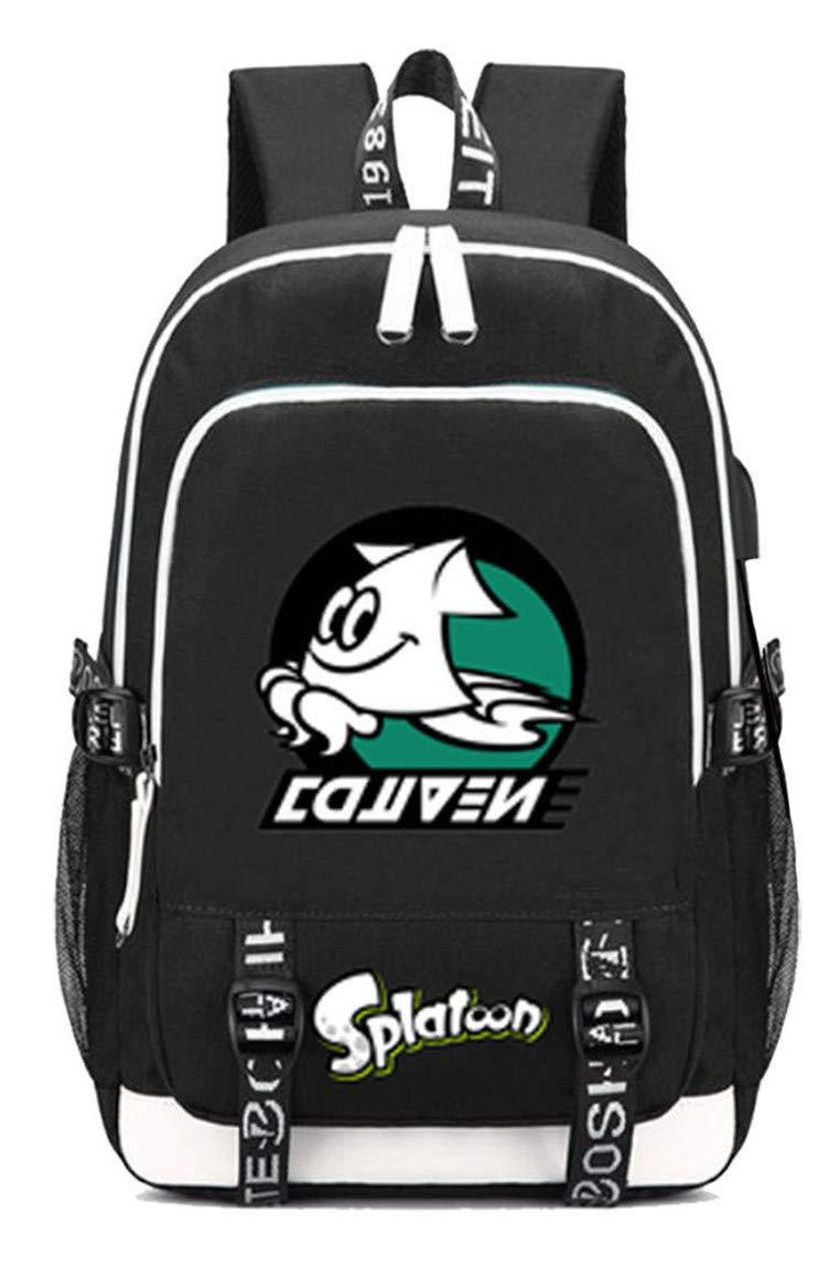 Splatoon  1 Cosstars Splatoon Game Rucksack Schoolbag Laptop Backpack with USB Charging Port and Headphone Jack  4
