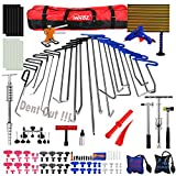 Paintless Dent Repair Tools Kit, WHDZ PDR Tool Kit for Hail Damage Removal - 21pcs PDR Rods Dent Puller Slide Hammer Dent Lifter Glue Gun Tap Down Pdr Light Reflect Board Auto Dent Repair Kit