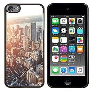Horizonte de la ciudad de Boston Sunset Arquitectura- Metal de aluminio y de plástico duro Caja del teléfono - Negro - iPod Touch 6